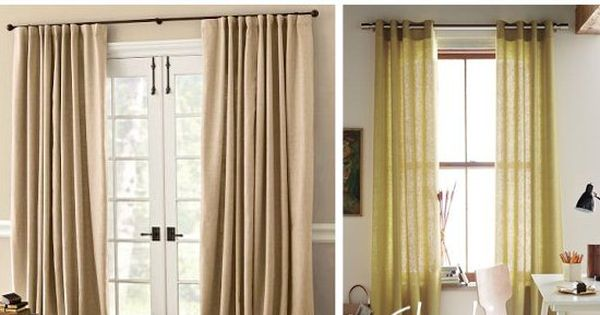Guide to hanging curtains and how long curtains should be How long should bedroom curtains be