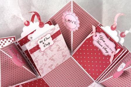 Love Valentine Explosion Box Explosion Box Exploding Box Card