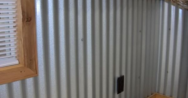 Garage walls corrugated metal man cave pinterest garage walls and corrugated metal - Rustic wall covering ideas ...
