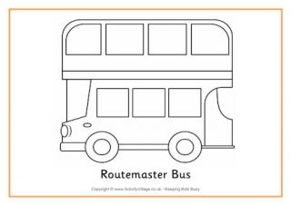 Catamaran Colouring Page Coloring Pages Routemaster Bus
