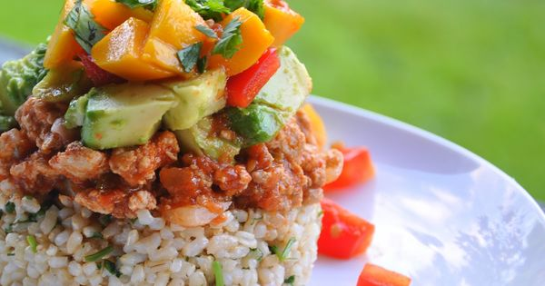Gluten Free Healthy Mexican Haystacks with Avocado, Tomato, Mango, and ...
