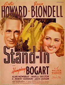 Stand In 1937 Leslie Howard Joan Blondell Humphrey Bogart Humphrey Bogart Movie Posters Bogart Movies
