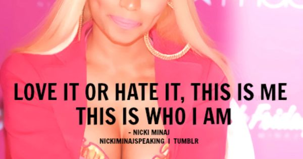 Not really a big Nicki fan but I agree with this quote