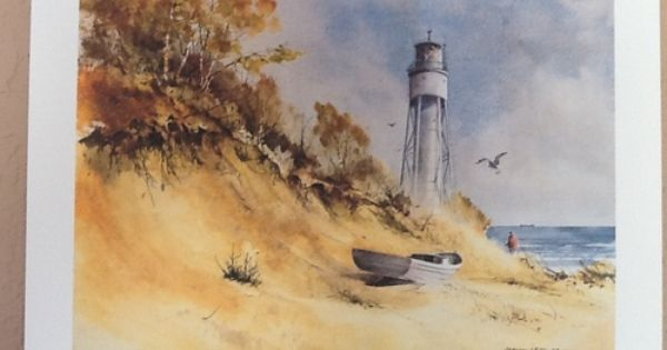 Gerhard Miller Print Door County Free Shipping For Our Facebook Fans Lighthouse Painting Door County Art