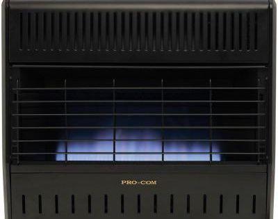 Procom 30 000 Btu Blue Flame Natural Or Liquid Propone Gas Portable Garage Heater Md300tga The Home Depot Garage Heater Gas Garage Heater Heater