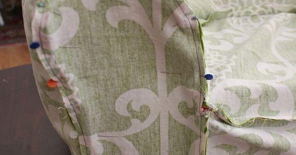 Couture recouvrir un fauteuil de tissu couture - Recouvrir un fauteuil ...