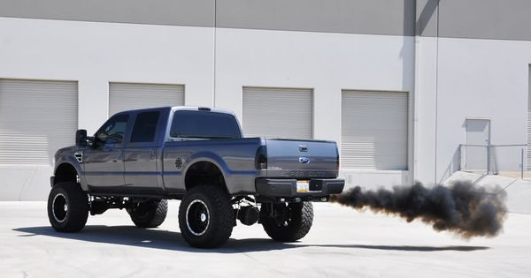 Rollin coal #diesels #trucks #black #lifted #dodge #ford # ...