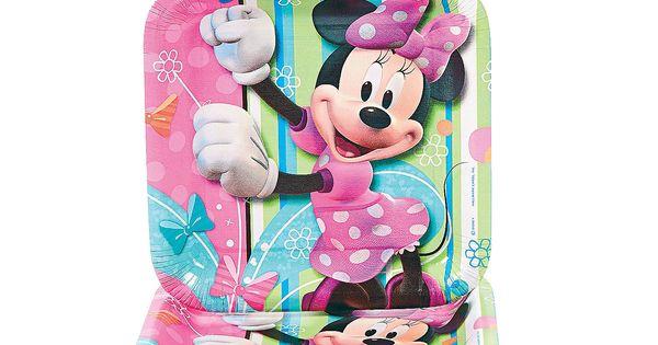 Minnie Mouses Bow-Tique Square Dessert Plates - OrientalTrading.com ...