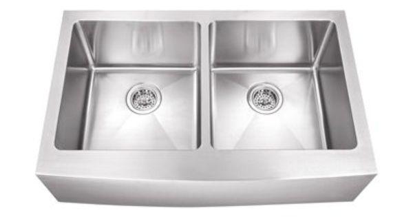 Schon Undermount Stainless Steel Apron Front Kitchen Sink Heavy D