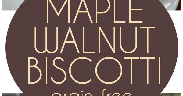 Maple Walnut Biscotti (Low Carb and Gluten-Free) | Recipe | Biscotti ...