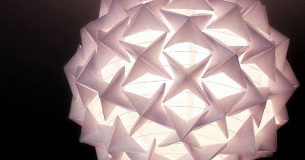 Luminária Origami Aulas de Artesanato, Dicas e Ideias.  Artesanato ...