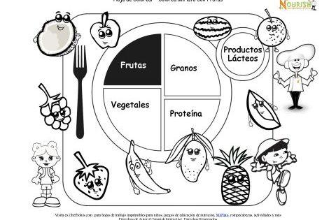 Piramide alimenticia dibujos para colorear en la casilla - Piramide alimenticia para colorear ...