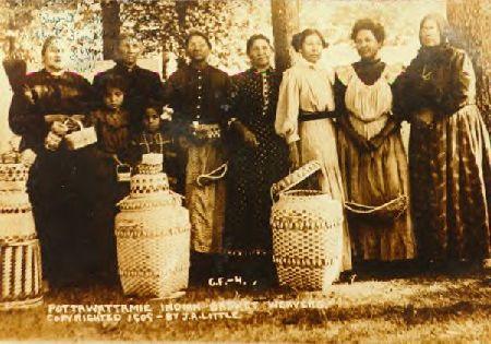 Potawatomi Basket Weavers Athens From Battle Creek