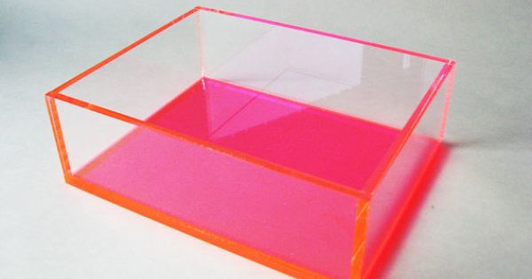 Display box pink and clear acrylic organizing box for Clear plastic sheets for crafts