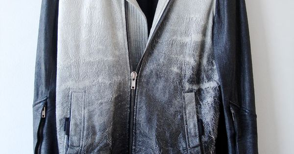 Rick Owen gradient leather jacket