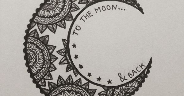 to the moon & back.. would make for a good henna piece