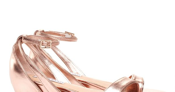 Rose Gold Wedges - love the low heel!
