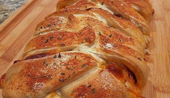 Baked Spaghetti...IN Garlic Bread!