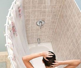 Curved Shower Rod Give Yourself A Scant Further Area In The
