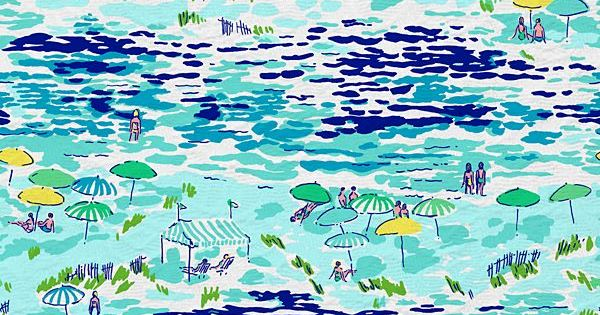 Summer 2012 - High Tide Toile Lilly Print