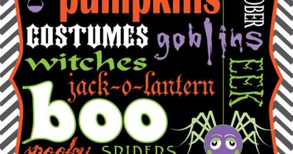FREE Halloween Print Download via Eye Candy Event Details freebie halloweensubwayart