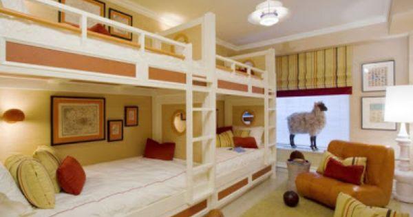 Camas literas en dormitorio infantil hostel pinterest - Dormitorios infantiles literas ...