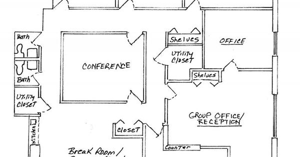 4 Small Offices Floor Plans | Private Offices, Large Group ...