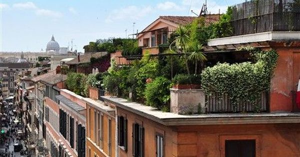 I Ll Have A Rooftop Garden In Italy One Day Pinned By Dakwaarde Rooftop Garden Roof Garden Apartment Garden
