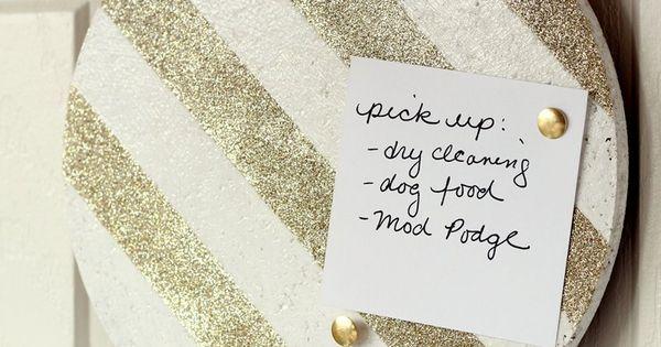 Glitter Cork Board!! YES PLEASE
