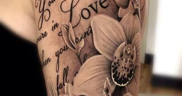 50 Examples of Girly Tattoo | Cuded. Love the way the flowers