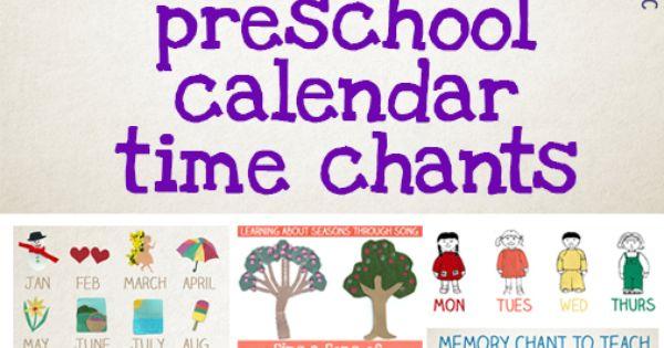 Kindergarten Calendar Time Smartboard : Preschool calendar time songs and chants