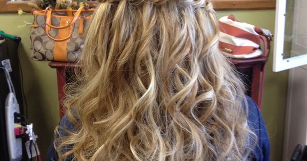 Waterfall Braid Half Up Half Down With Curls