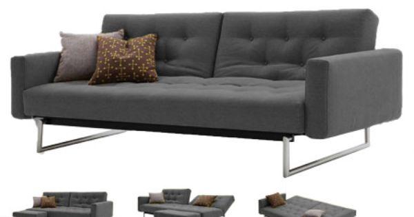 Venus dark grey convertible sofa bed sleeper king size for Sofa bed jamaica