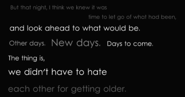 Life lessons learned...~The Wonder Years