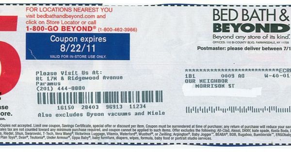 5 off bed bath and beyond coupons printable