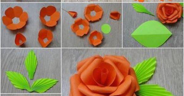 mooie rozen maken van papier  - wrap  u0026 fold