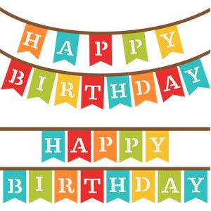 Silhouette Design Store Happy Birthday Banners Happy Birthday Banners Birthday Banner Happy Birthday Png