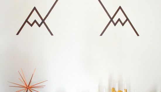 geometrisches gebirge diy washi tape mountain wall art geometric masking tape washi tape. Black Bedroom Furniture Sets. Home Design Ideas