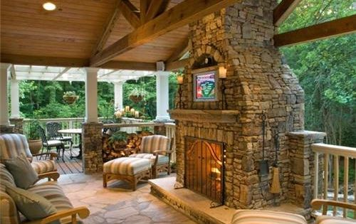 How's this for a back porch? For my dream house!