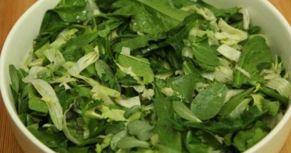 السلطة الخضراء Green Salad Arabic Food Food Spinach