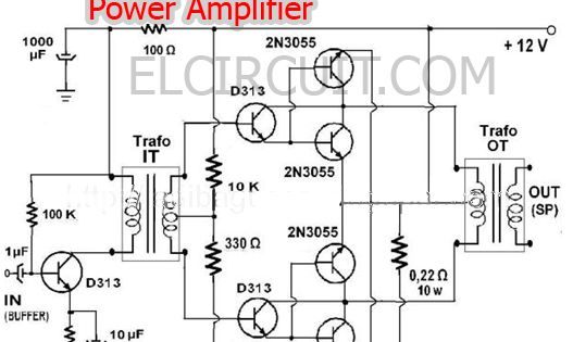 power amplifier for horn speaker