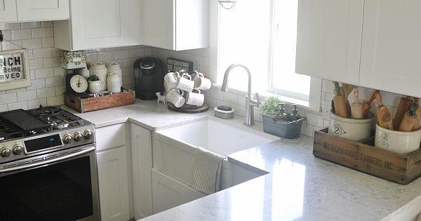 Quartz Countertop Review Pros Cons Subway Tile Backsplash The White And Cabinets