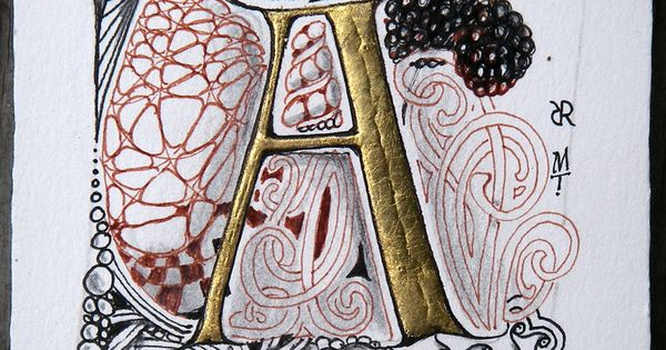 A tangled quot zentangle by rick roberts and maria thomas