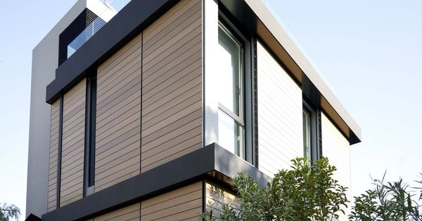 Brown And Black Modern Family Hosue Exterior Paint Color Decorating Ideas With Wood Wall