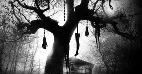 Creepy Old Tree With Body Parts Hanging From It Haunted