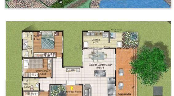 200 metros quadrados com uma varanda de 49 43 m2 projeto for Sala de 9 metros quadrados