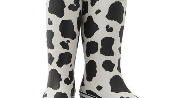 Evercreatures Cow rain boots