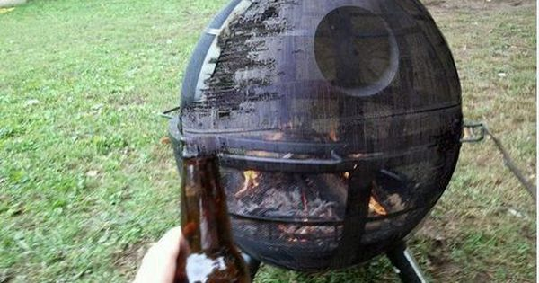 Star Wars Death Star fire pit. I'd join the Dark Side for