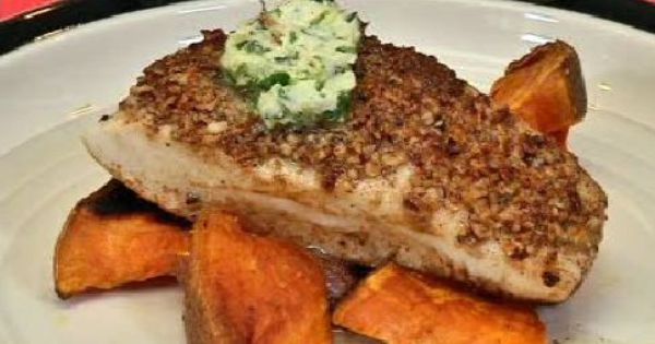 Almond-Crusted Halibut With Vegetable Curry Recipe — Dishmaps