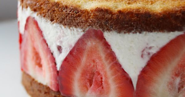Strawberry Mascarpone Cream Cake (or icecream cake)